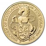 Единорог Шотландии. Звери Королевы: золото 31.1 гр